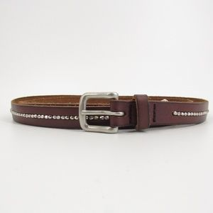 AEO Brown Leather Belt w/Center Row Bling XL